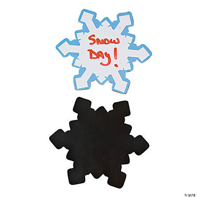Snowflake Dry Erase Magnets