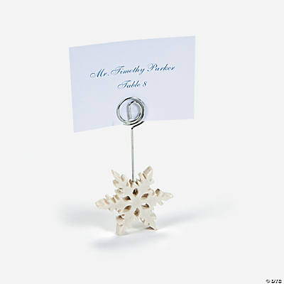 Snowflake Name Card Holders