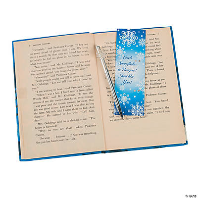 Snowflake Pen & Bookmark Sets