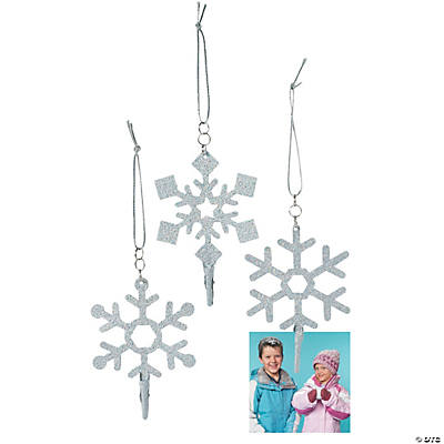 Snowflake Photo Clip Christmas Ornaments