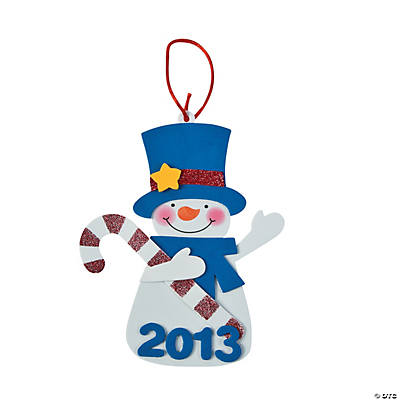 """2013"" Snowman Christmas Ornament Craft Kit"