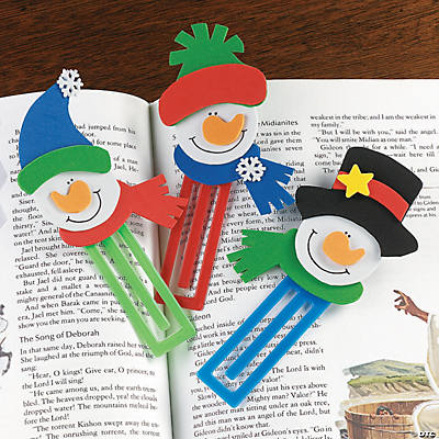 Snowman Clip Bookmark Craft Kit