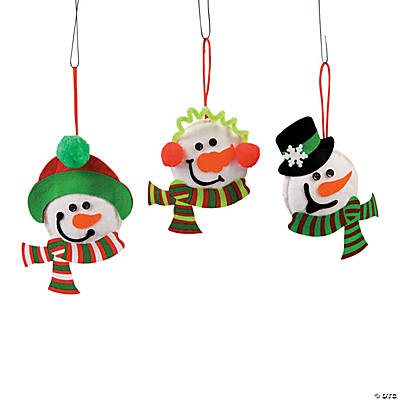 Snowman Head Ornament Craft Kit