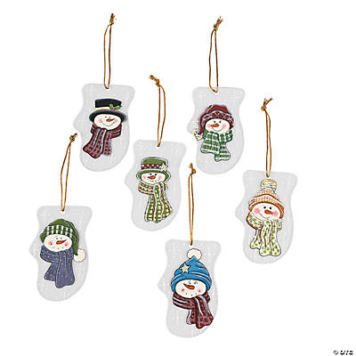 Snowman Mitten Christmas Ornaments