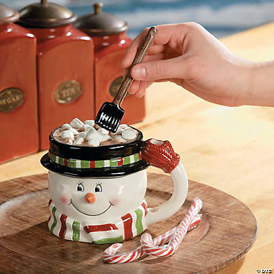 Snowman Mug with Shovel Spoon