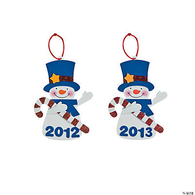 """2012"" Snowman Ornament Craft Kit"