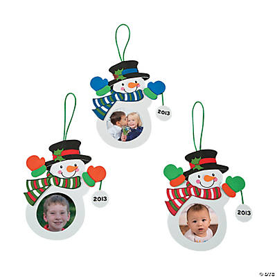 """2013"" Snowman Photo Christmas Ornament Craft Kit"