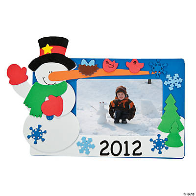 2012 Snowman Picture Frame Magnet Craft Kit