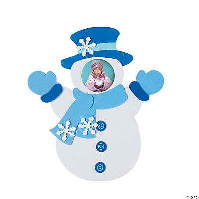 Snowman Picture Frame Self-Adhesive Magnet Craft Kit