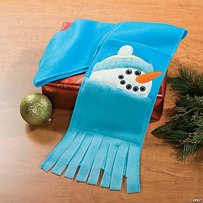 Snowman Scarf with Pockets