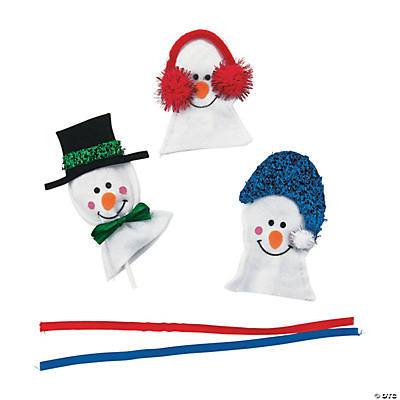 Snowman Sucker Covers