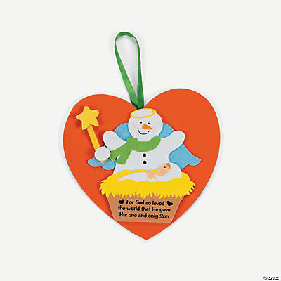 Snowman with Baby Jesus Ornament Craft Kit