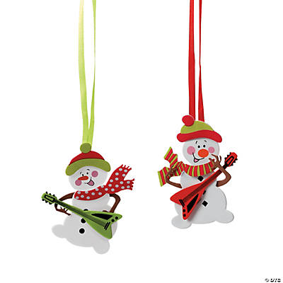 Snowman with Guitar Christmas Ornament Craft Kit