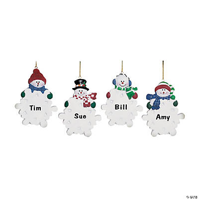 Snowman with Snowflake Christmas Ornaments
