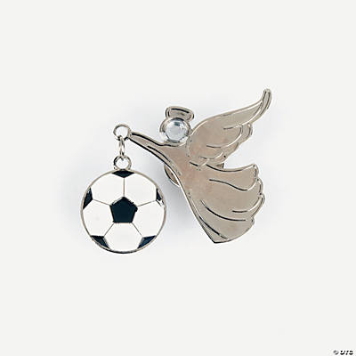 Soccer Angel Pins