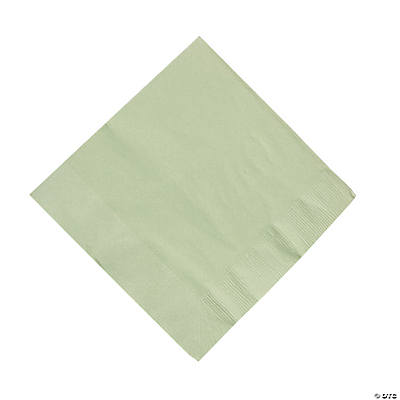 50 Solid Color Luncheon Napkins - Sage Green