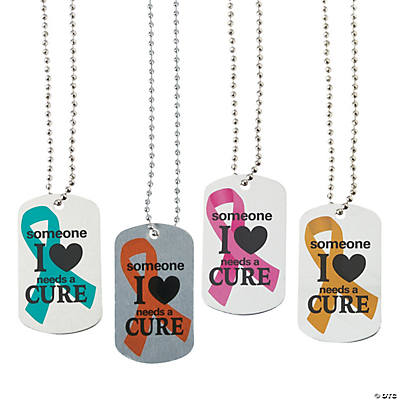 Someone I Love Needs A Cure Dog Tag Necklaces