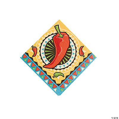 Southwest Chilies Beverage Napkins