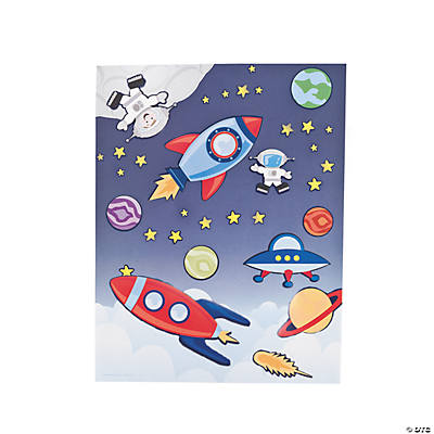 Space Scene Stickers