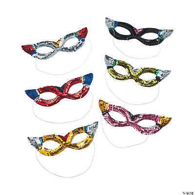Sparkling Sequin Rainbow Masks