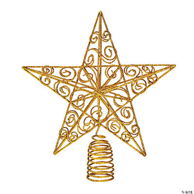 sparkly gold star christmas tree topper - Star Christmas Tree Topper