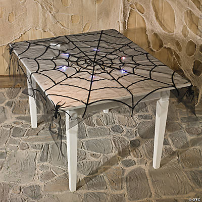 Spiderweb Flocked Tablecloth