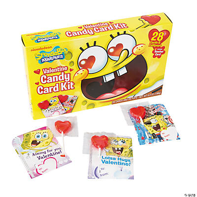 SpongeBob Squarepants™ Valentine Card & Candy Kit