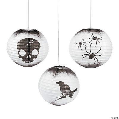 Spooky Soiree Hanging Paper Lanterns