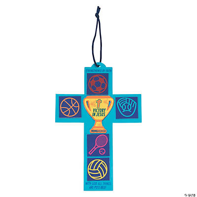 Sports VBS Cross Sign Craft Kit