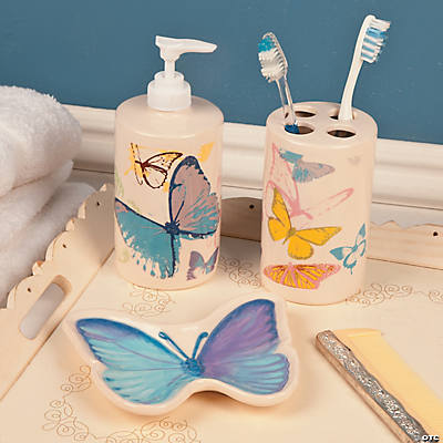 Spring Butterfly Bathroom Accessories