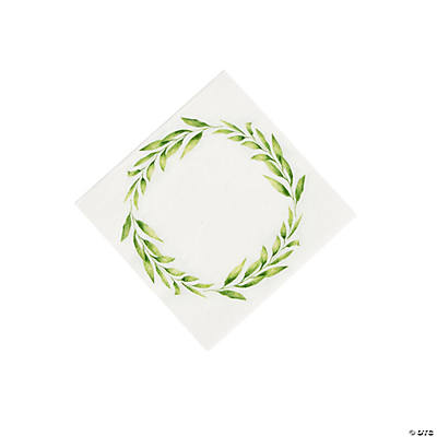 Spring Greenery Beverage Napkins