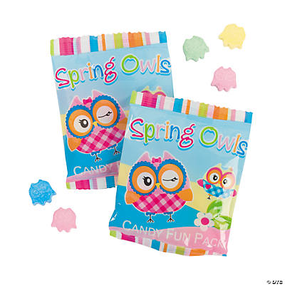 Spring Owls Candy Fun Packs