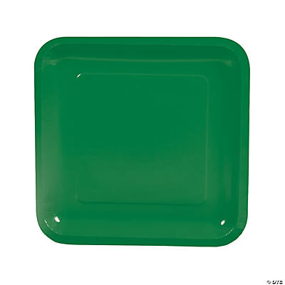 Square Dinner Plates - Green