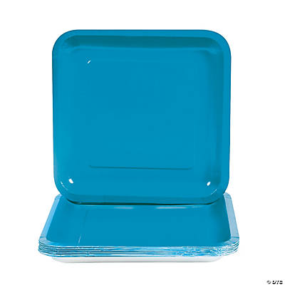 Square Dinner Plates - Turquoise