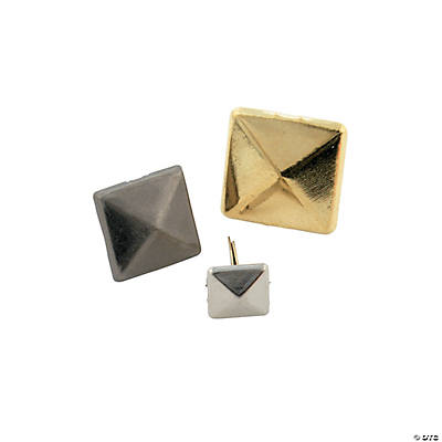 Square Metallic Brads Set