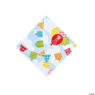 1st Birthday Circus Beverage Napkins