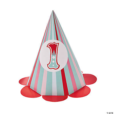 1st Birthday Circus Cone Hats