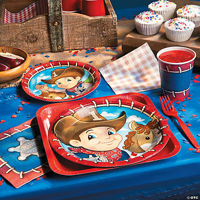 1st birthday cowboy basic party pack oriental trading for 1st birthday party decoration packs