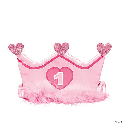 1st Birthday Girl Crown Headband