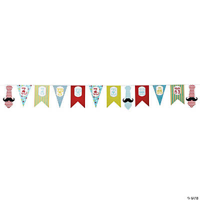 1st Birthday Little Man Pennant Banner