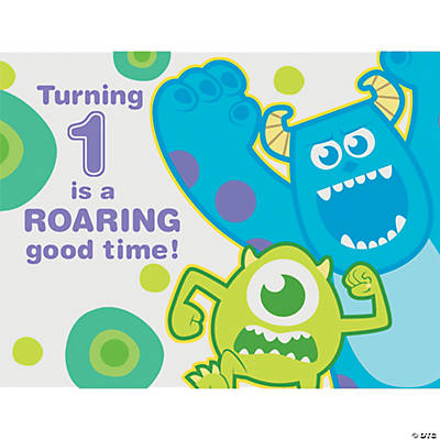 1st Birthday Monsters, Inc. Invitations