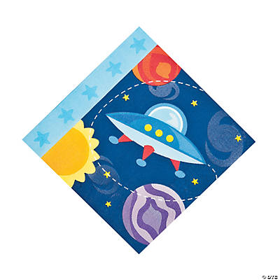 1st Birthday Rocket Luncheon Napkins