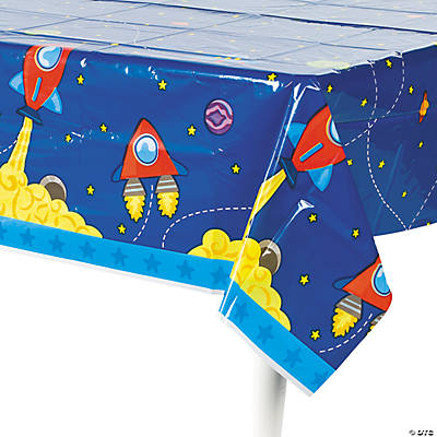 1st Birthday Rocket Party Tablecloth