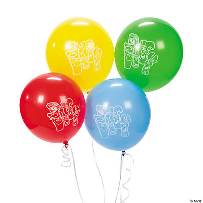 12 1st Birthday Tool Party Balloons