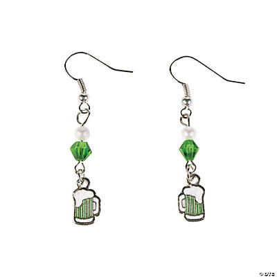 St. Patrick's Day Green Beer Earring Craft Kit