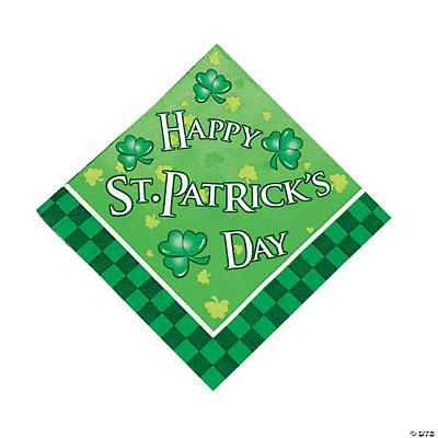 St Patrick's Day Luncheon Napkins
