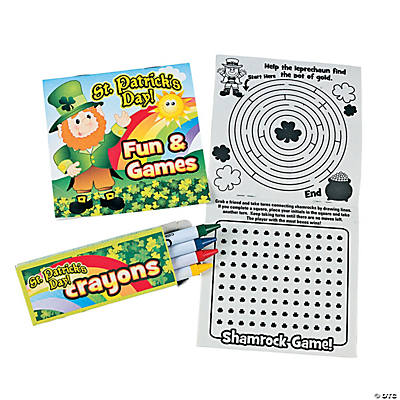 St. Patrick's Day Activity Books with Crayons