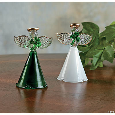 St. Patrick's Day Angel Ornaments