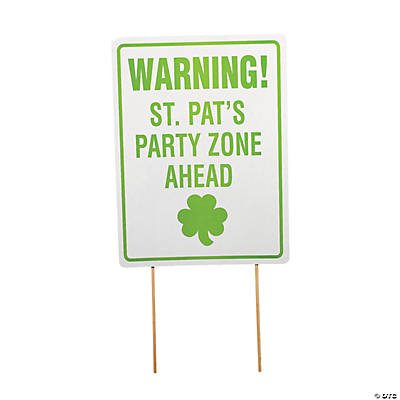 "St. Patrick's Day ""Party Zone""  Yard Sign"