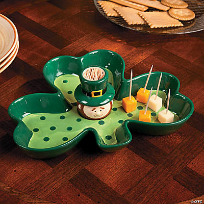 St. Patrick's Day Server with Toothpick Holder